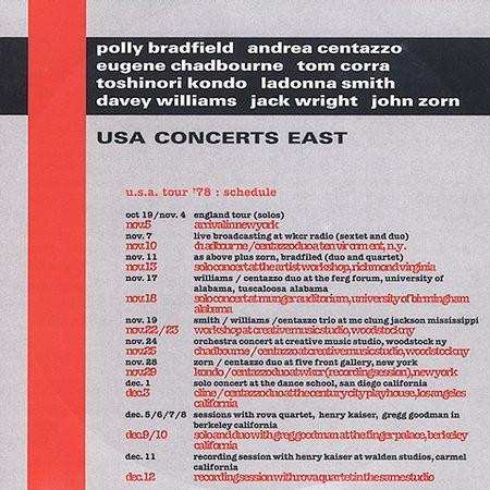 Andrea Centazzo — USA Concerts