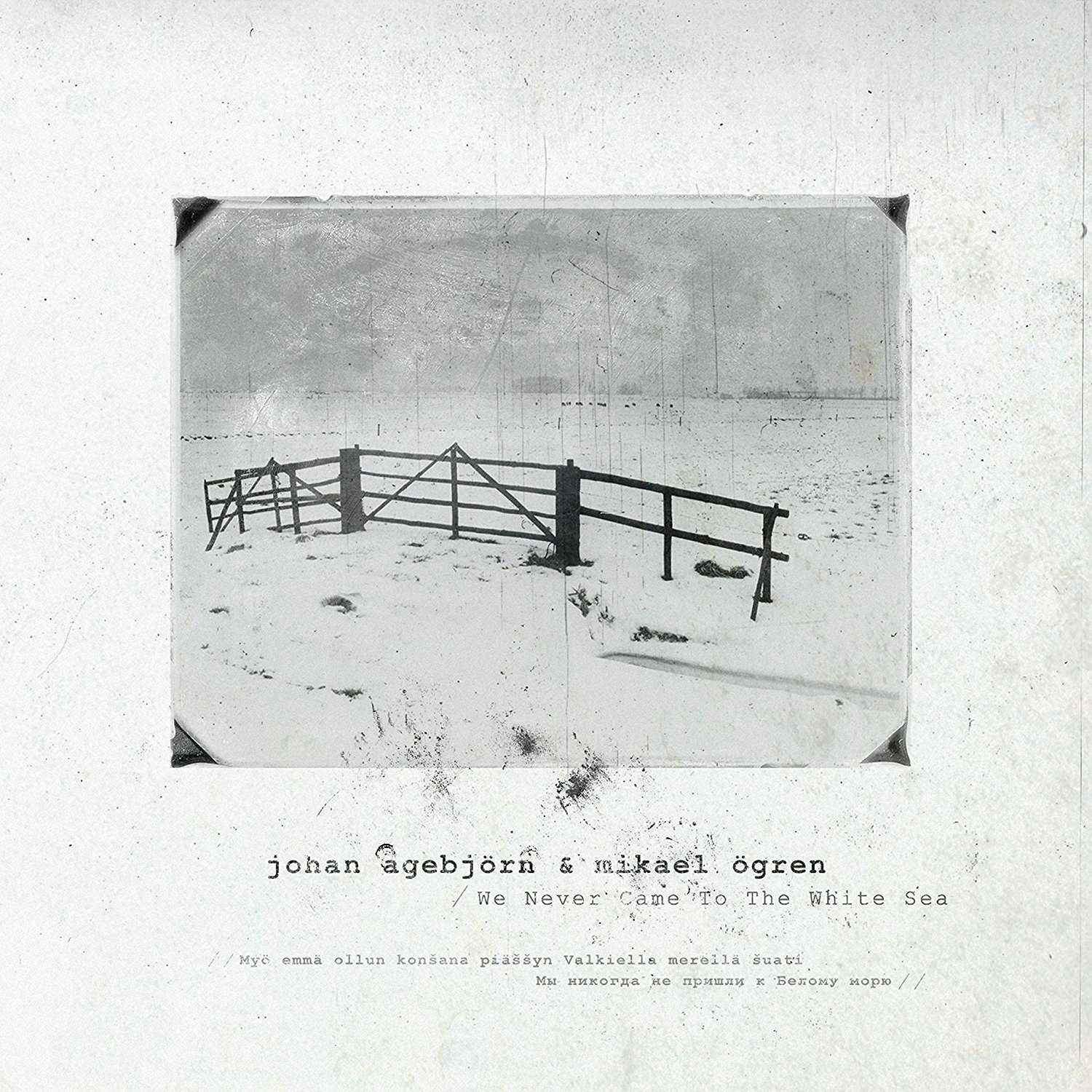 We Never Came to the White Sea Cover art